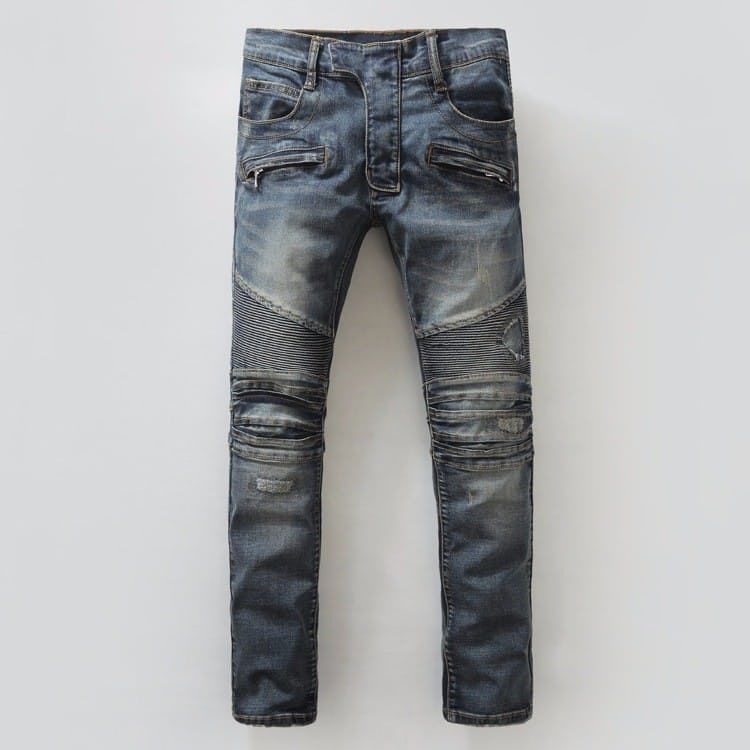 Knee Ripped BALMAIN Men JEANS via JQ online store. Click on
