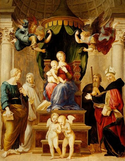 Raffaello Sanzio da Urbino: Madonna del Baldaquino, 1508 ...