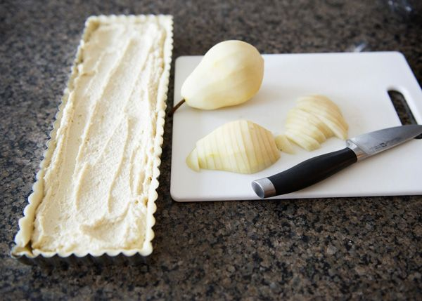 Baked Bree | Pear Almond Tart with Amaretto Cream