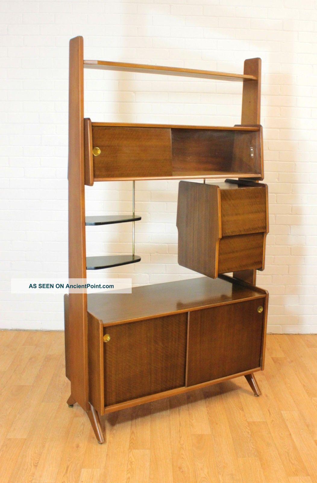 Wow Retro Upright Drinks Cabinet Bar Or Room Divider Mid Century Vintage Mcm P Furniture Design Modern Modern Style Furniture Woodworking Furniture Plans