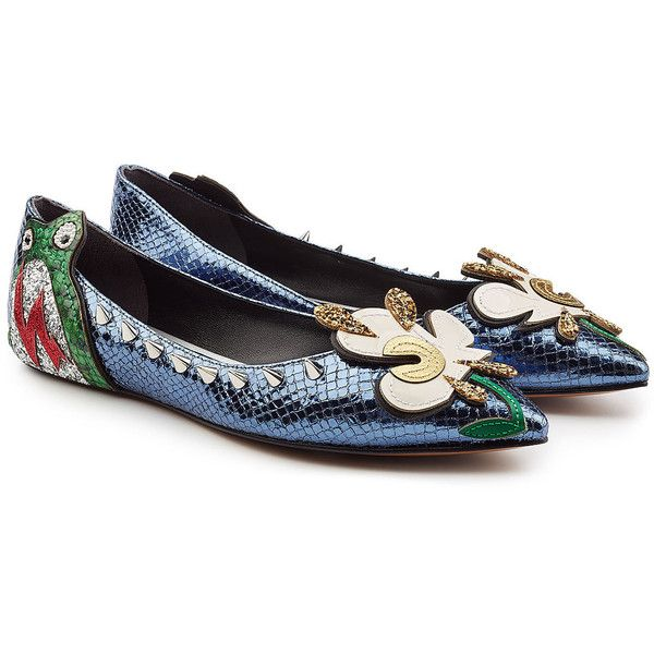 Marc Jacobs Leather Embellished Flats fashion Style sale online hot sale cheap online footaction for sale discount outlet store footlocker cheap online gUoCAO