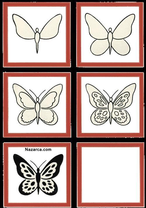Kolay Guzel Kelebek Nasil Cizilir Kelebekler Cizim Egitimleri