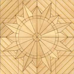 Rouen Maple :RouenMaple 1/12th Scale Hardwood Parquet Flooring Kit. Pack contains one four inch square center medallion - 16 square inches in total. The center medallions are effective in a dining room or entry with PQ104 used to extend the pattern to any size needed.£12.95