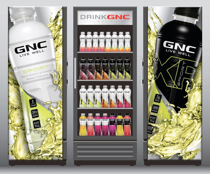 Gnc Functional Beverages Packaging Design Drink Display