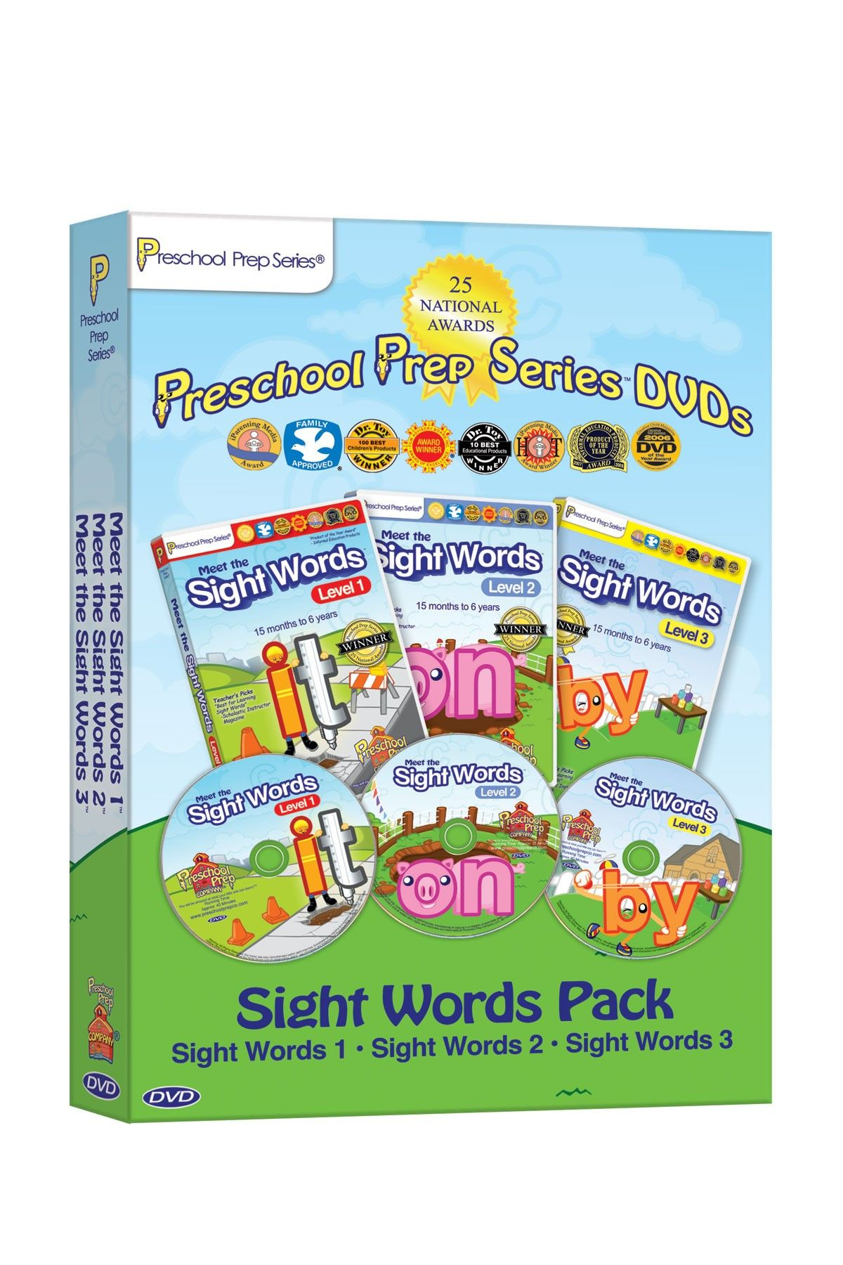 Preschool Prep Company Meet the Sight Words DVD 3-Pack | Dinner ...