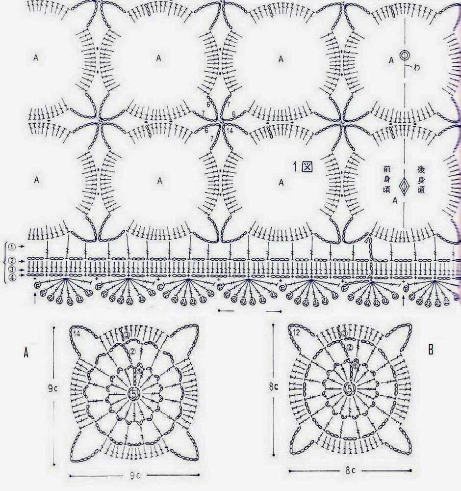 Crochet Camisolas: Crochet Lace Túnica Pattern - Nice | Tunika,Top ...