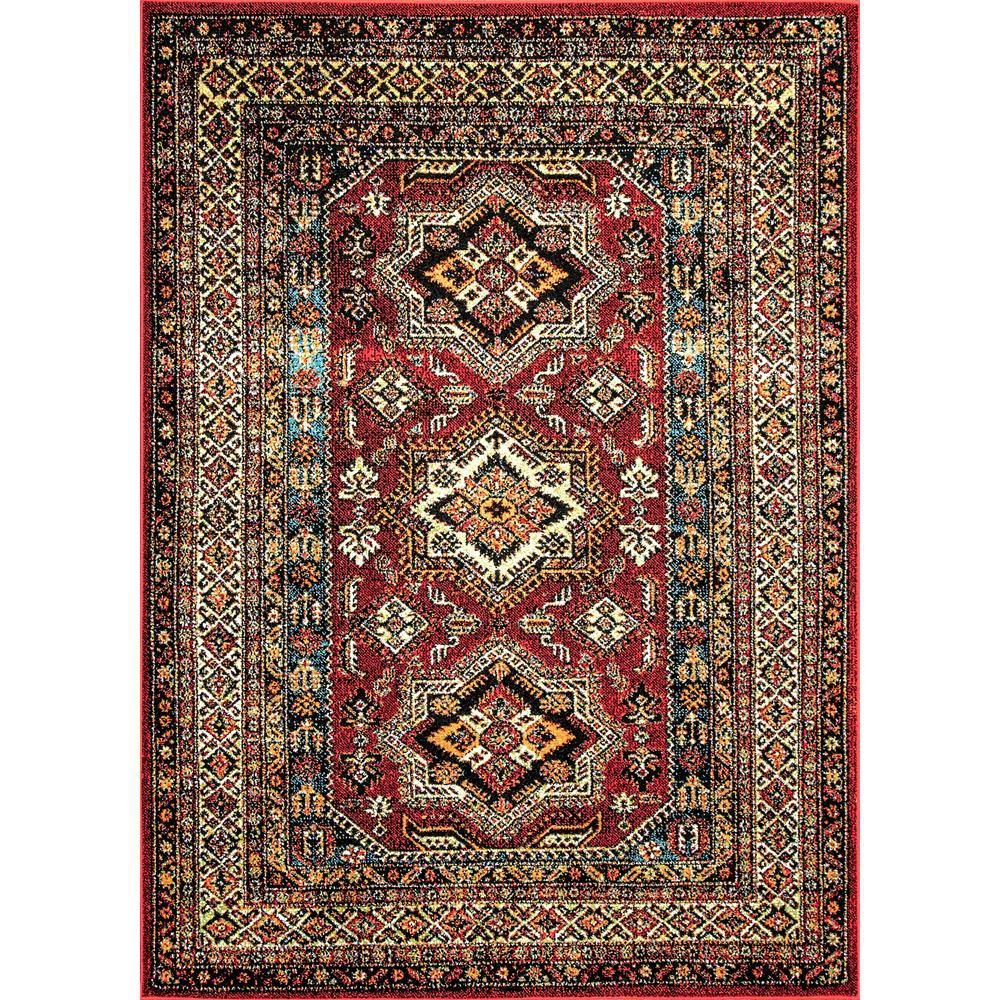 Nuloom Randy Medieval Transitional Red 7 Ft X 9 Ft Indoor Outdoor Area Rug Mebe02a 6709 Area Rugs Indoor Outdoor Area Rugs Outdoor Area Rugs