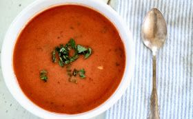 Flower Patch Farmgirl: Simple, Delicious Tomato Basil Soup