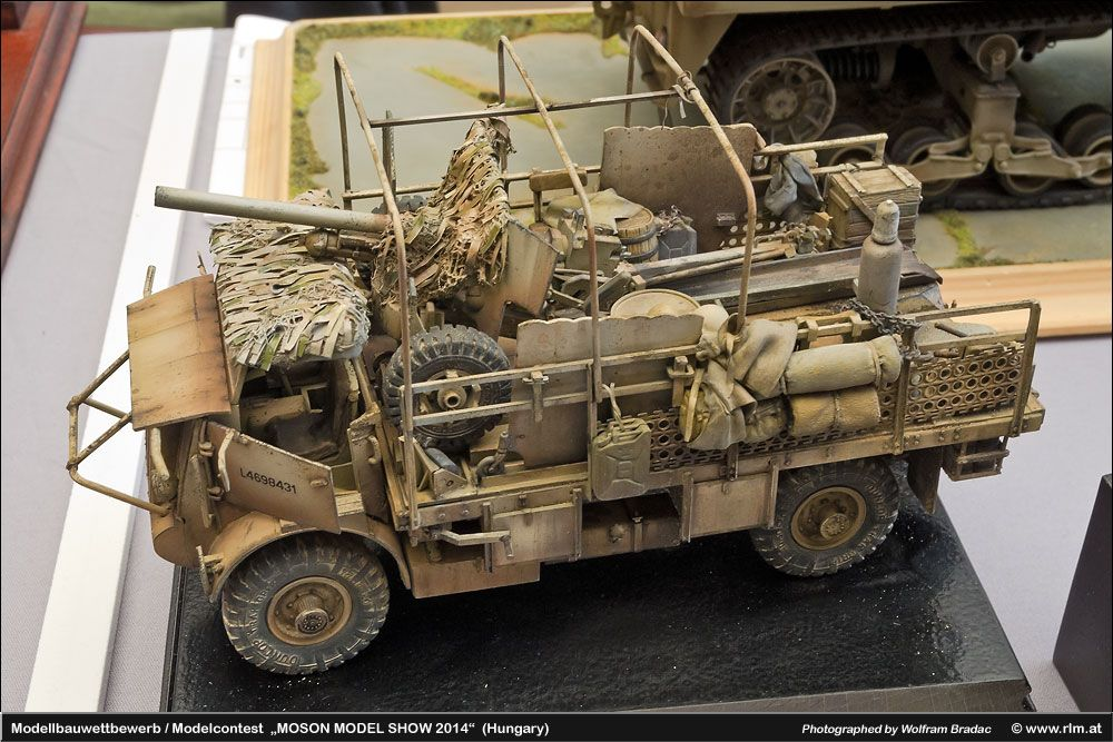 Africa Campaign Bedford MWD Utility Truck improvised 2pdr AT gun-carrier.