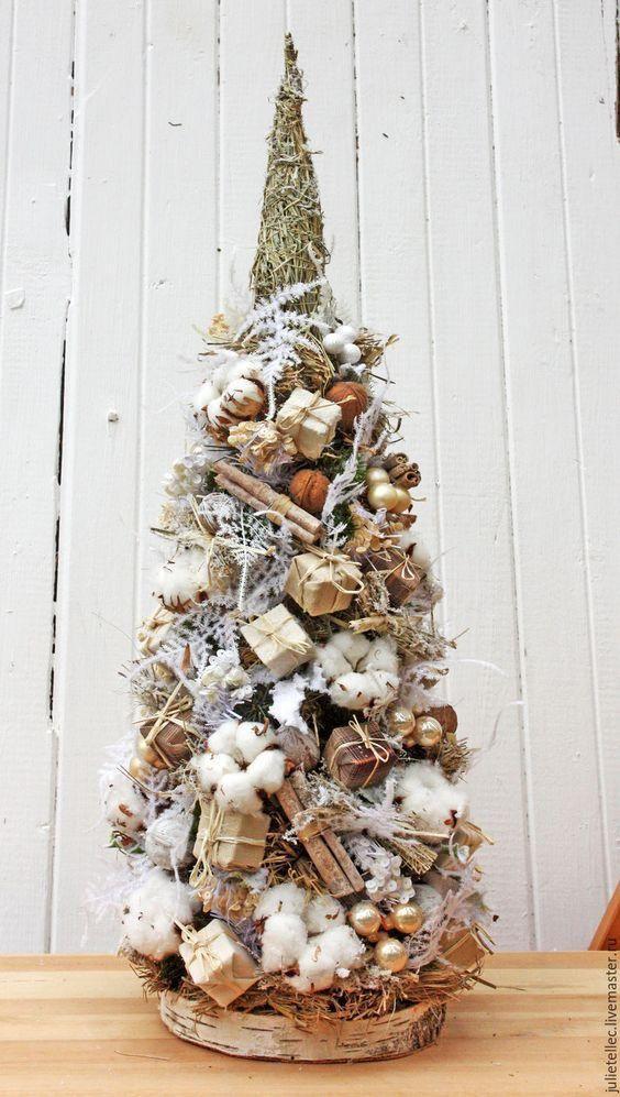 Magiczne mini choinki z WIKLINY i innych naturalnych materiałów. Boskie! ☃ ☃ ☃   Holiday decor ...