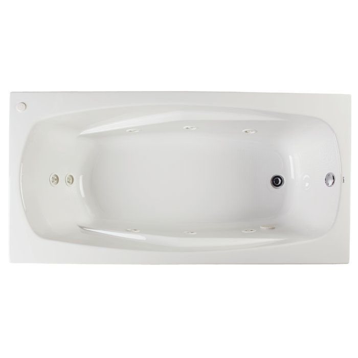 Alexandria 72 X 36 Drop In Whirlpool Bathtub Maui Whirlpool
