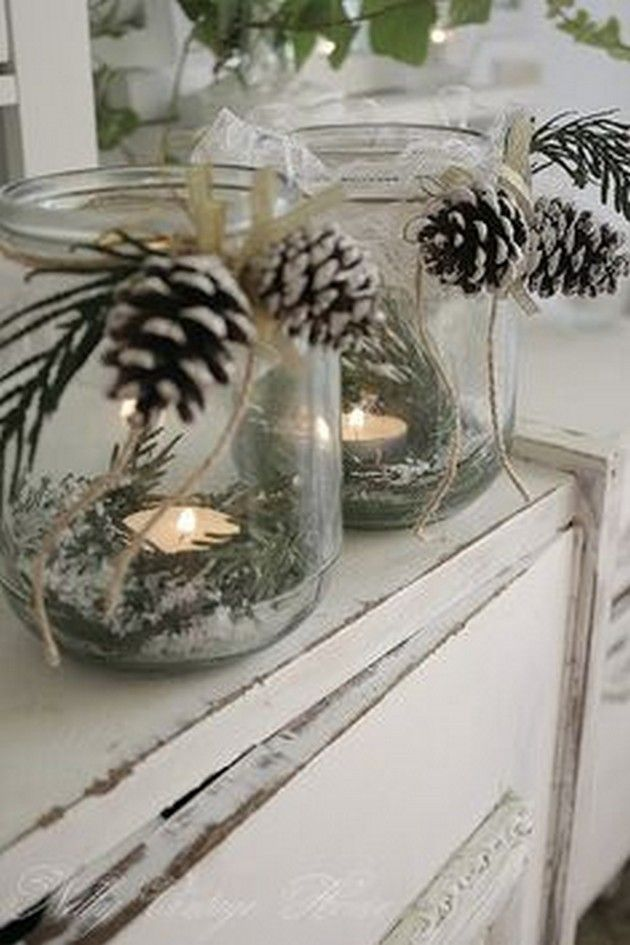 More Pine-Cone Craft Ideas (18 Pics) -   23 pinecone crafts white ideas