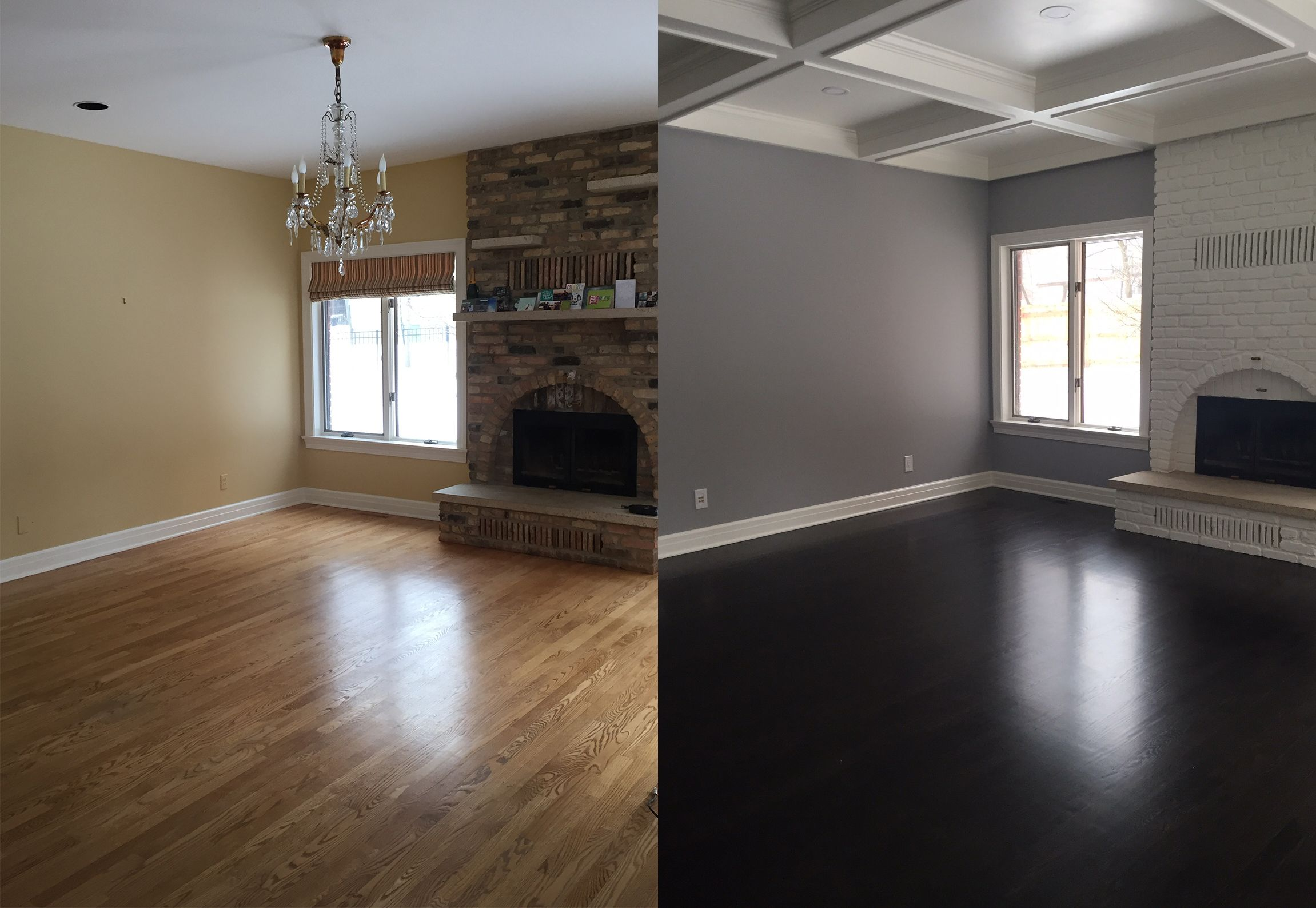 Another Before And After Set Of Photos Of Our Hearth Room From