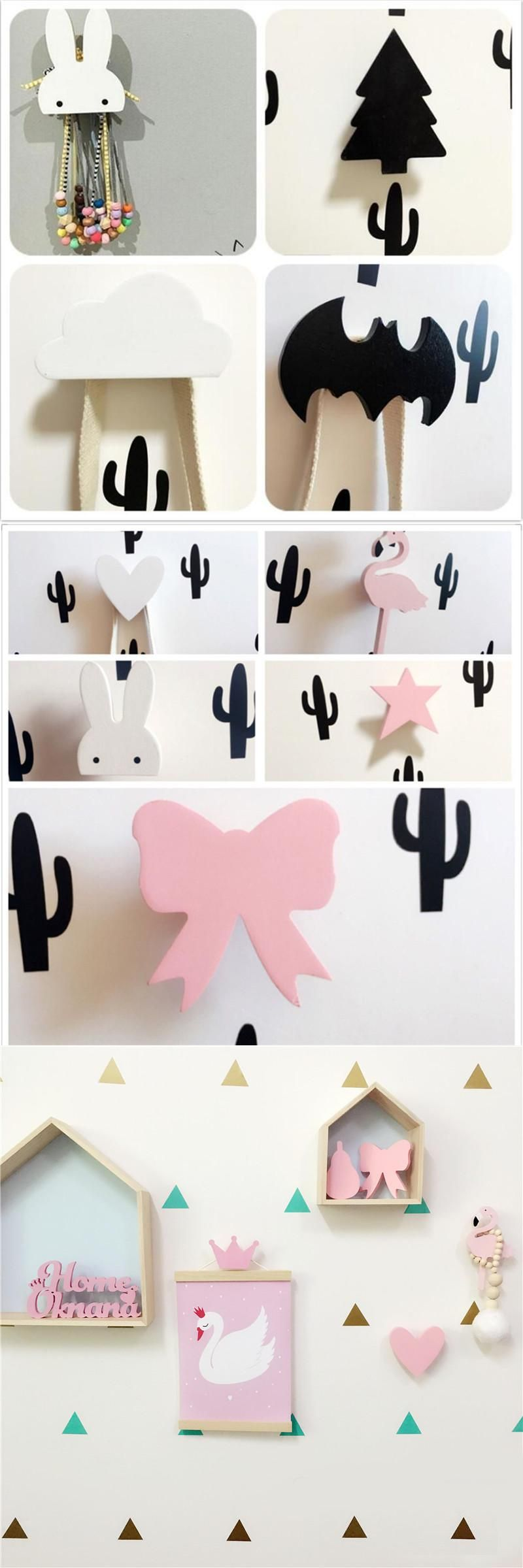 Visit to buy baby child kids room wooden wall hooks decorative visit to buy baby child kids room wooden wall hooks decorative door holder hanger amipublicfo Choice Image
