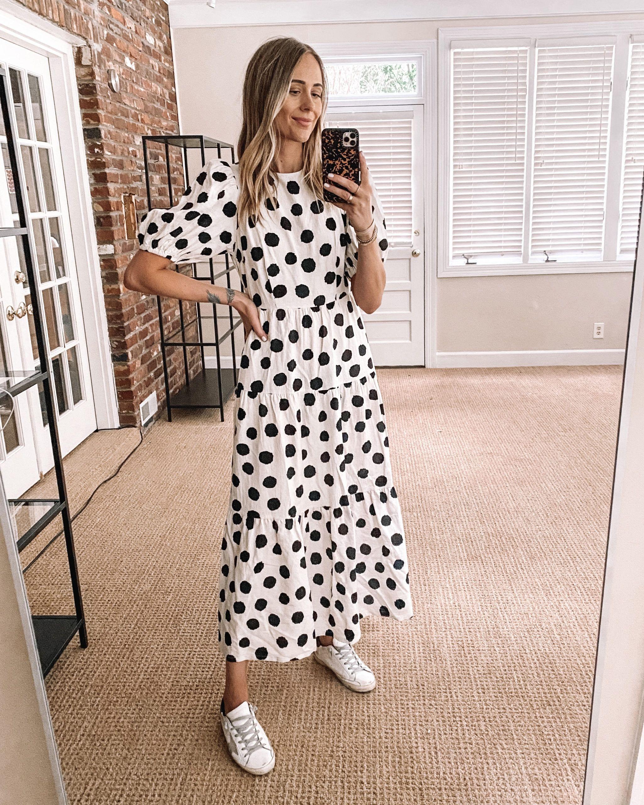 Fashion Jackson Target Finds Who What Wear Black White Polka Dot Maxi Dress Fashion Jackson Polka Dot Dress Outfit Summer Dress Outfits [ 2560 x 2049 Pixel ]