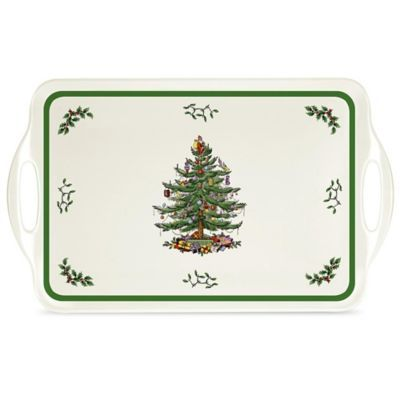 Spode Pimpernel Christmas Tree 15 Quot Sandwich Tray Multi