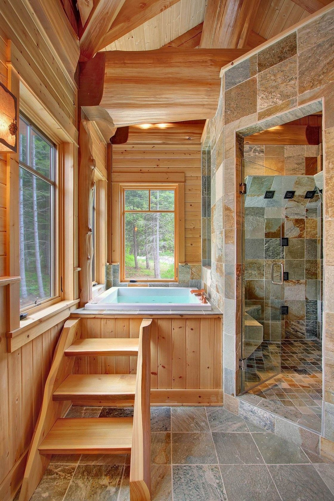 Take A Visual Tour Of This Beautiful Log Home That Sits On