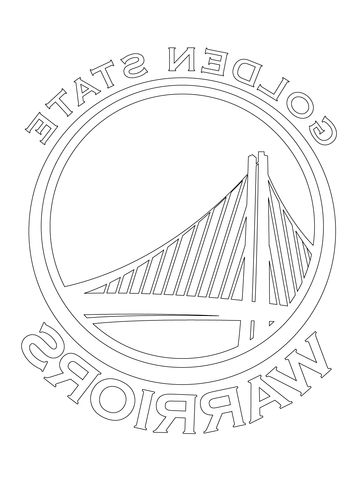 Golden State Warriors Coloring Page Anting