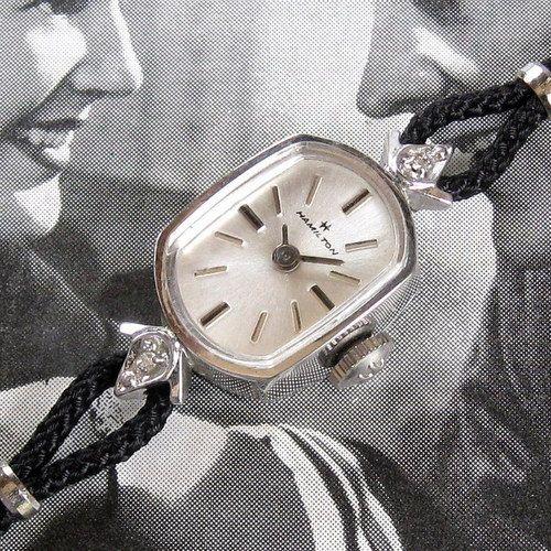 Ladies 1960s Hamilton Medalist Vintage 17J Diamond Cocktail Watch Box Papers   eBay