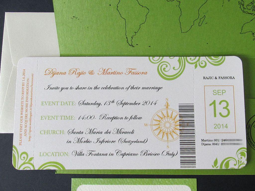 Biglietto Aereo Biglietti Aerei Partecipazioni Nozze Aereo