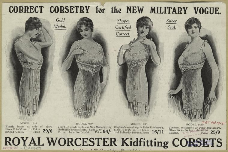 1915 royal corsetry #fashion #style #corsets #history