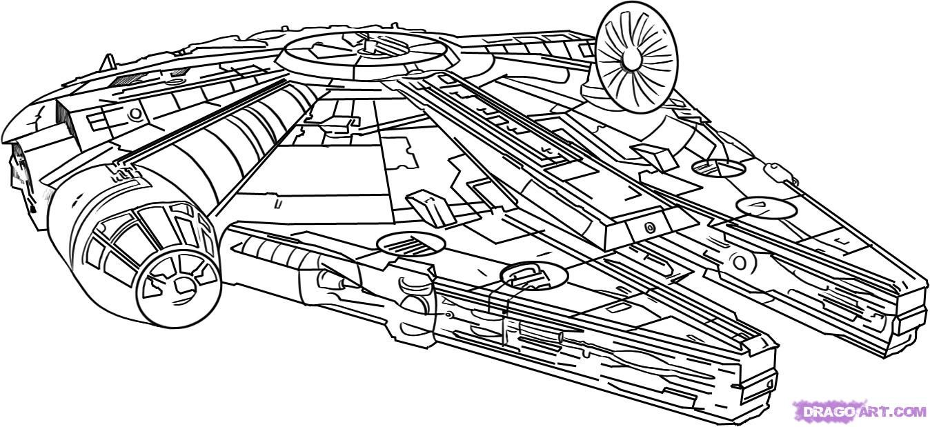 How To Draw The Millennium Falcon By Dawn Star Wars Colors