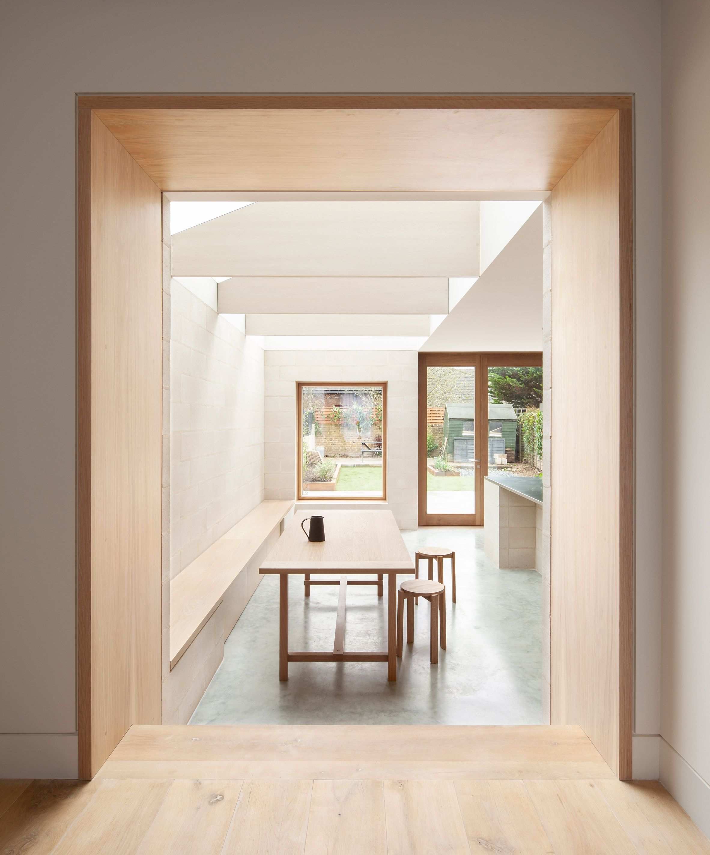 An Existing Narrow Kitchen Extension Was Removed To Make