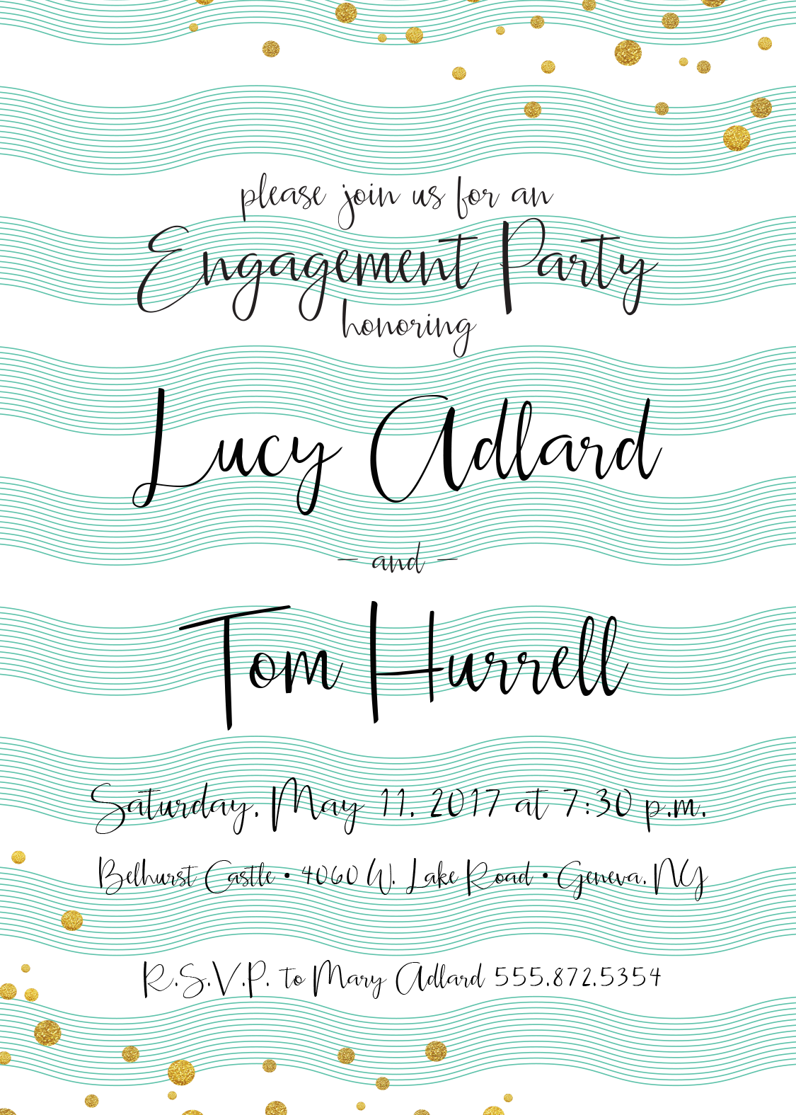 Engagement Party Invitation | CatPrint Design #1019