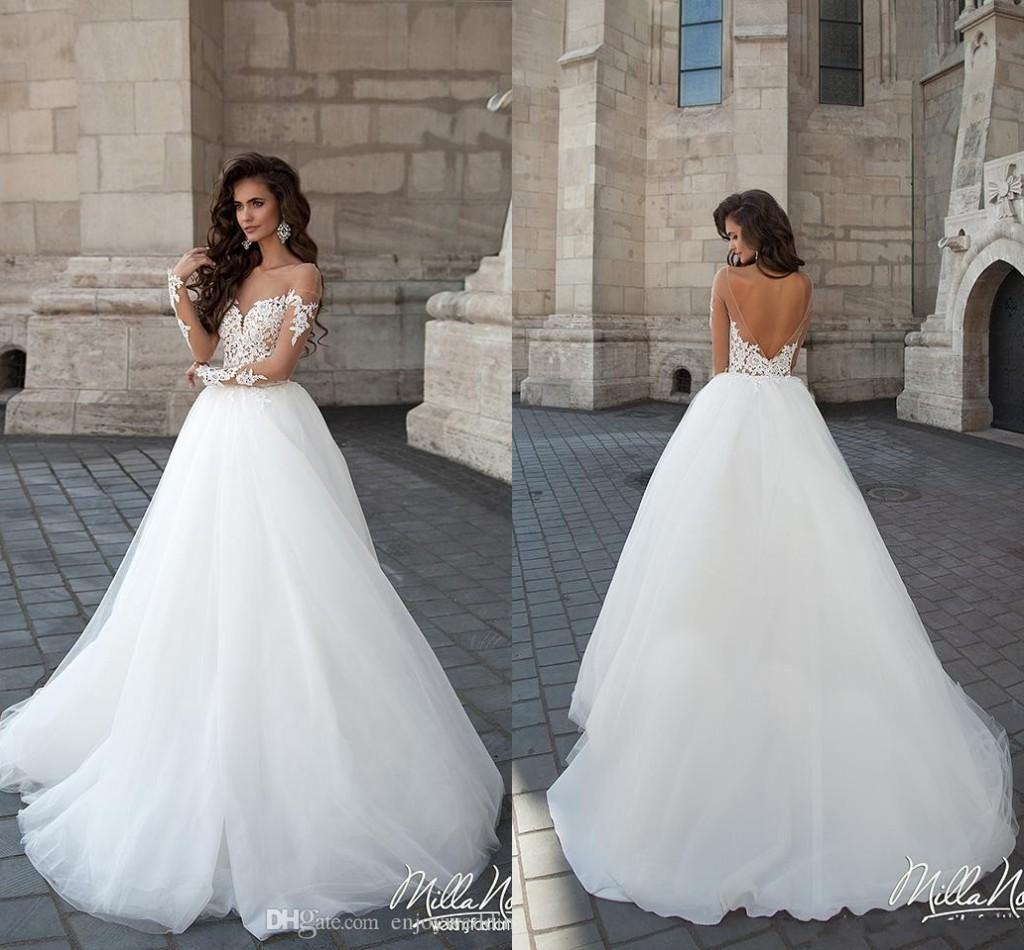 Amelia Sposa Lace Applique Princess Wedding Dresses Custom Make ...