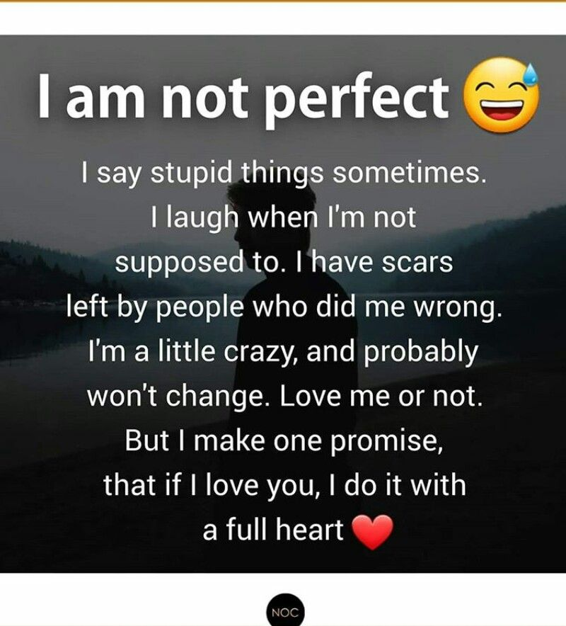 I Promise I Love U With My Heart Loving Someone Quotes Perfection Quotes No Ones Perfect Quotes