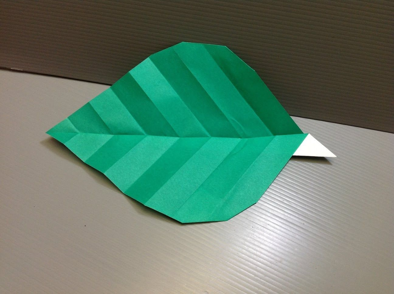 Pin by maria usztyan on origami flower pinterest origami how to make an origami leaf origami leaf designed by traditional origami style pure sheet of paper no scissors no glue completion time mightylinksfo
