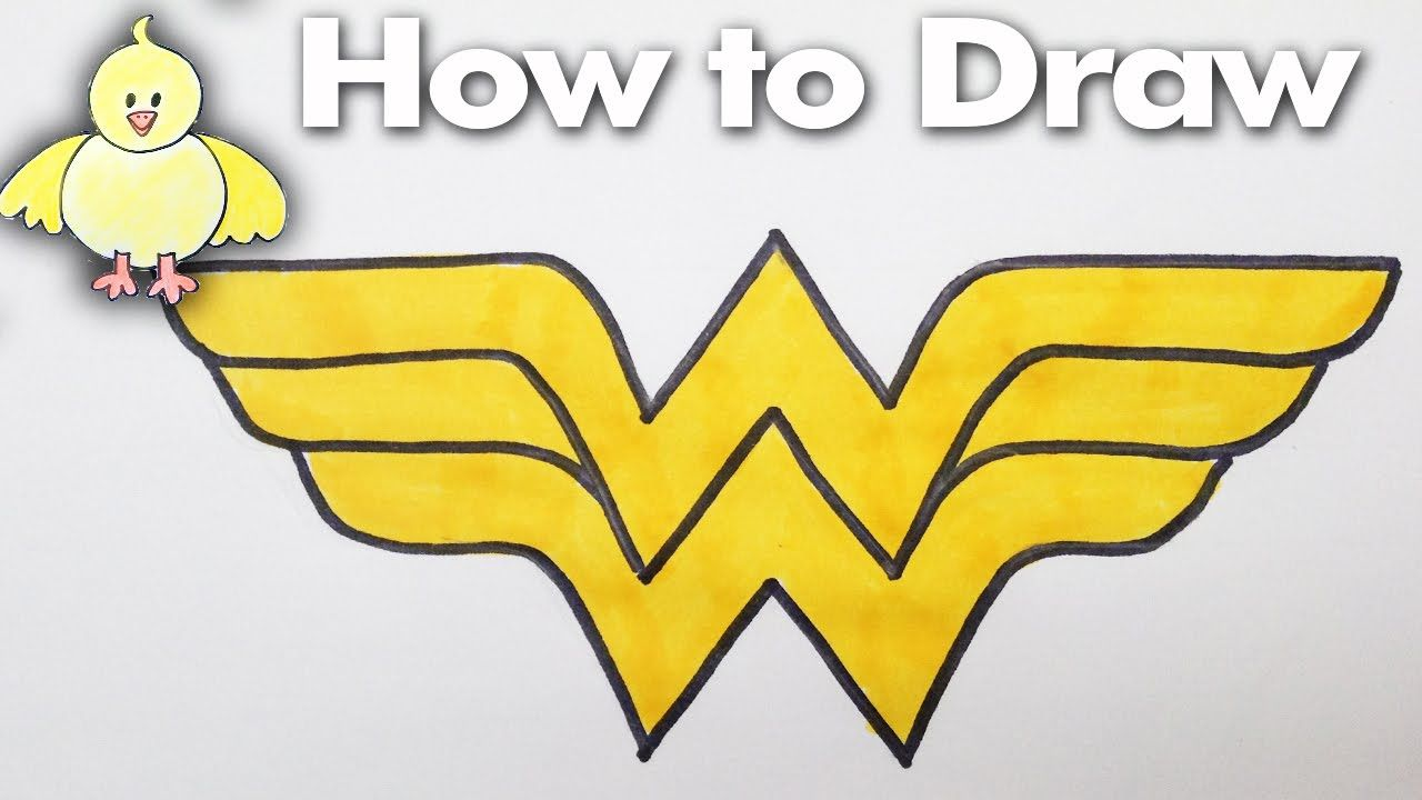 Drawing How To Draw The Wonder Woman Logo Step By Step