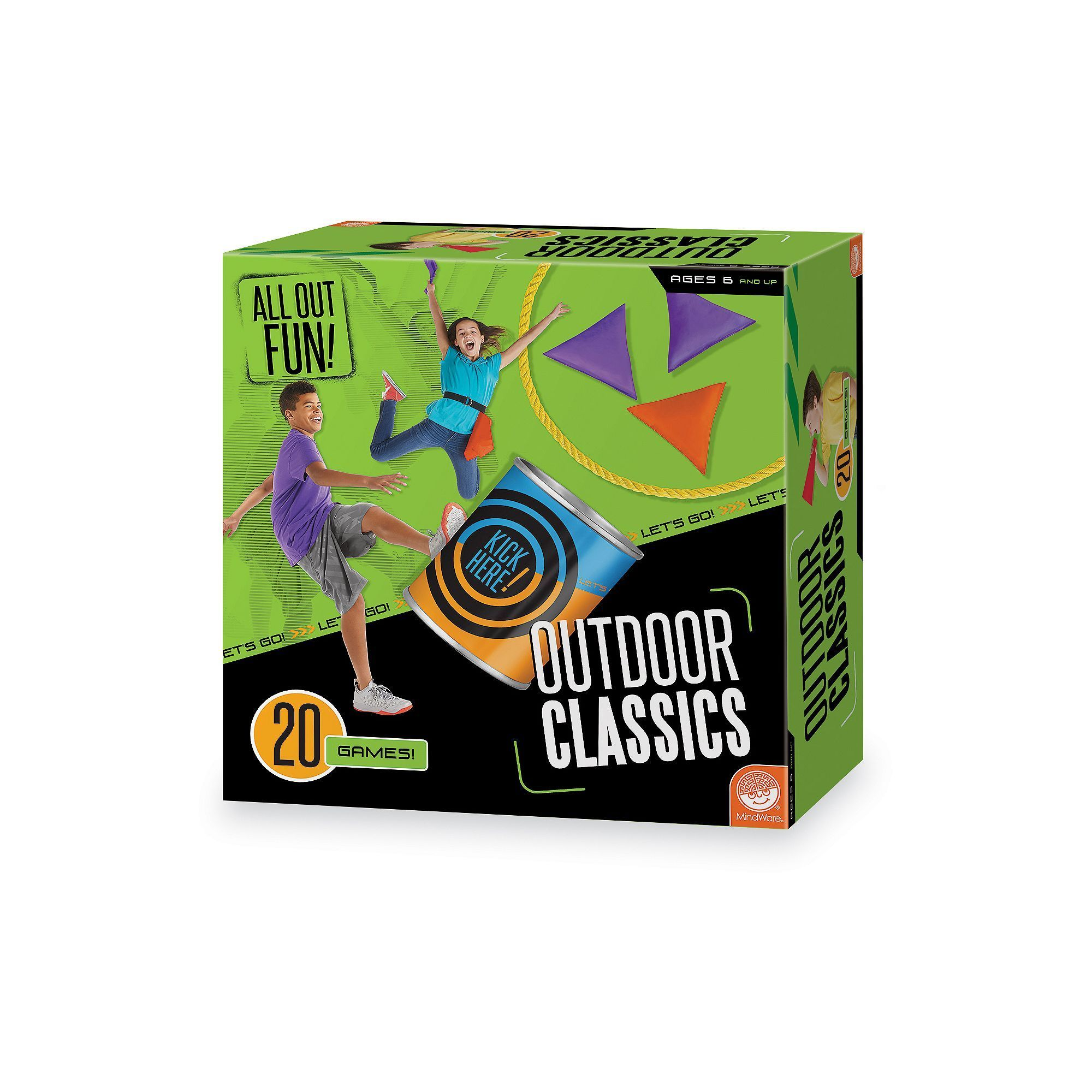 All Out Fun Outdoor Classics 20 Game Set by MindWare Multicolor