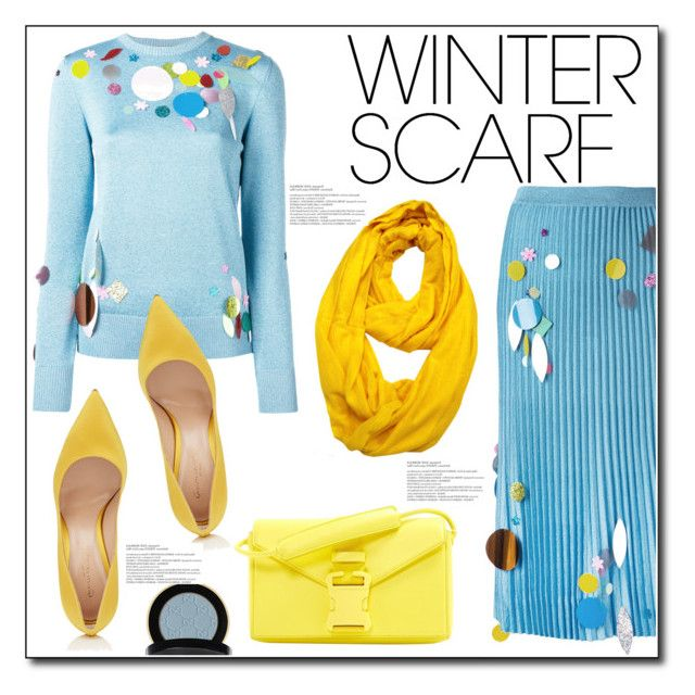 """Wrapper's Delight: Winter Scarf"" by queenvirgo ❤ liked on Polyvore featuring Christopher Kane, Le Nom, Gianvito Rossi, Gucci and winterscarf"