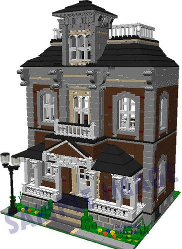 Hilltop Victorian Pdf Instructions Minecraft City Lego Architecture Lego House