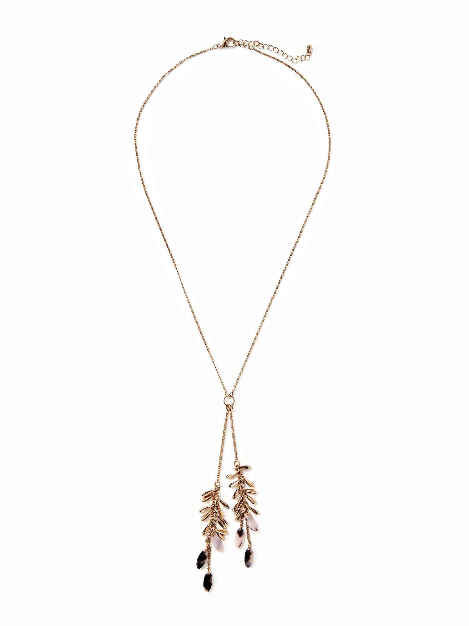 Marbledtortoiseshell pendant necklace for women old navy