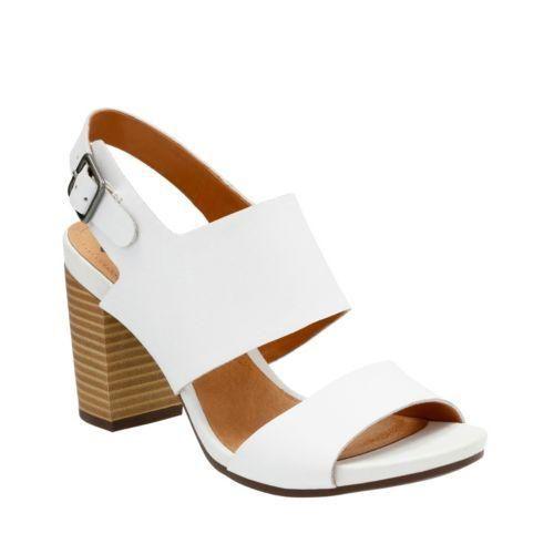 Clarks Banoy Tulia White Leather Women