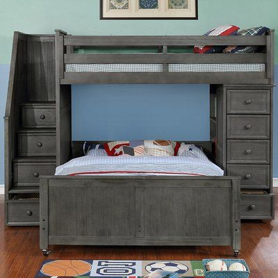 Harriet Bee Danelle Twin Over Full L Shaped Bunk Bed Bed Frame Color