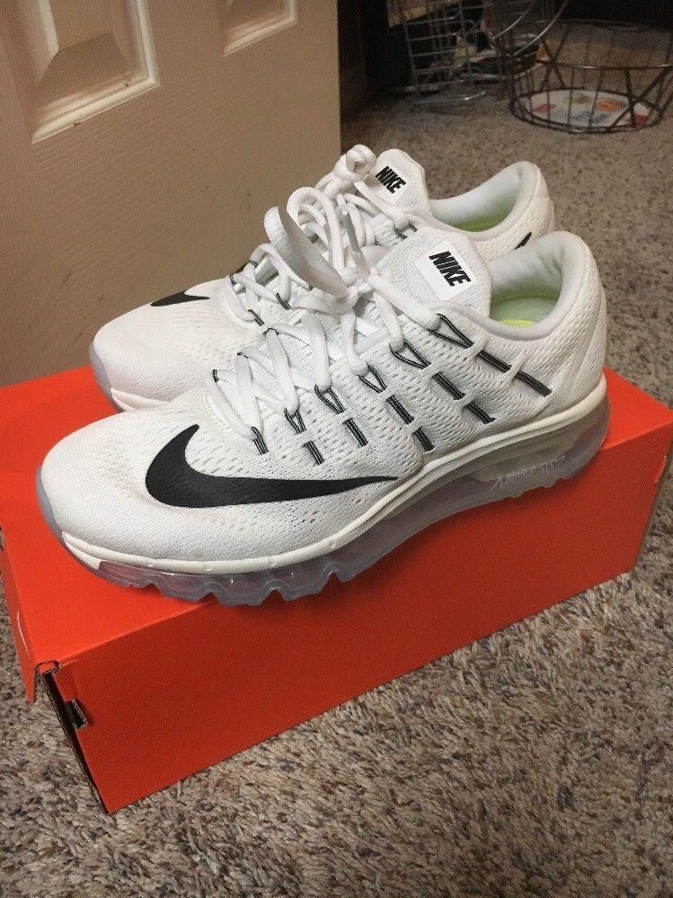 timeless design 4cb8d 6dd71 Nike Air Max 2016 Womens Size 7.5 Running Shoes 806772-100 Summit White  Black