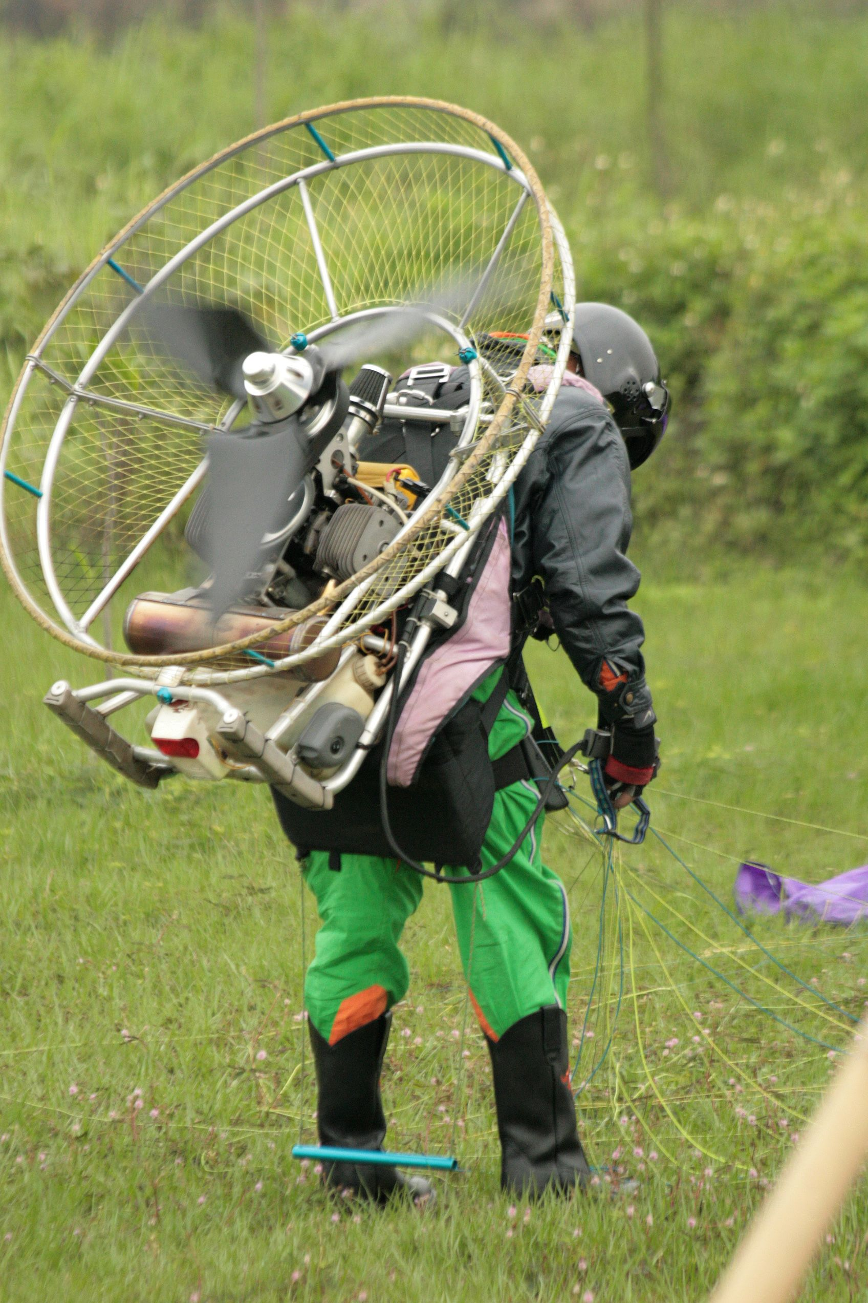 paraglider naked Powered