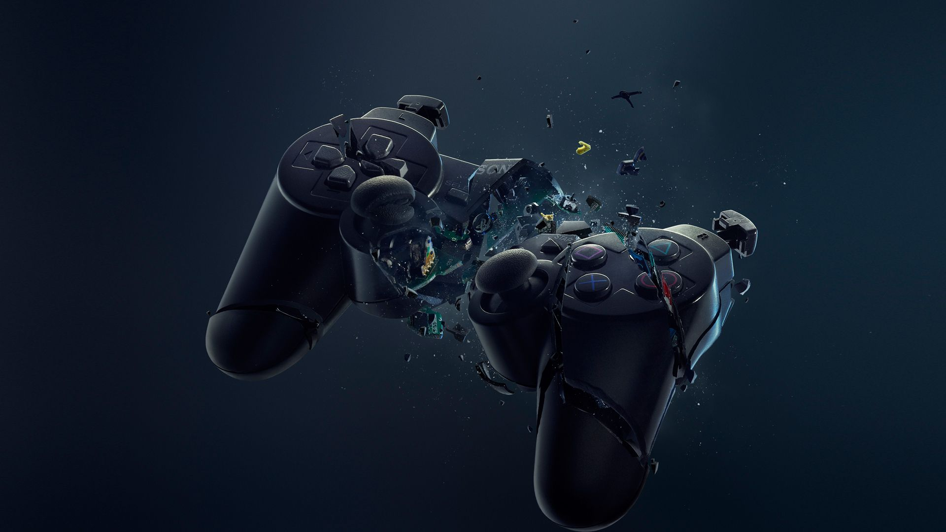 Playstation Game Controller Black Wallpaper Hd Free Desktop Mobile