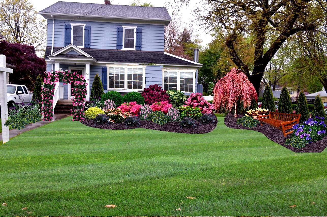Landscape Ideas For Front Yard With Full Sun Landscape Design