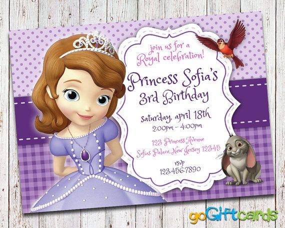 Sofia the first invitation princess sofia birthday by gogiftcards sofia the first invitation princess sofia birthday by gogiftcards stopboris Gallery