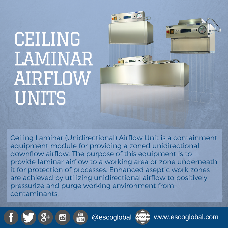 Esco Brings You Extraordinary Technology That Seems Out Of This World Know More About Ceiling Laminar Airflow Units At Www Escop The Unit Airflow Enhancement
