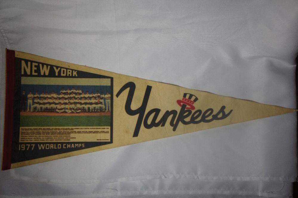 "Vintage 1977 New York Yankees World Champions Team Photo Pennant 12"" x 30"" #NewYorkYankees"