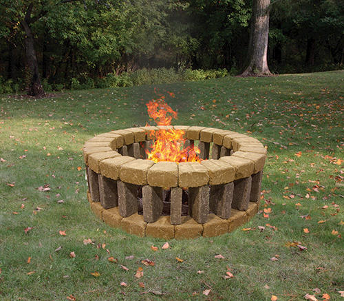 """Belgian Fire Pit Project Material List 1' 4"""" x 4' 7"""" at ..."""