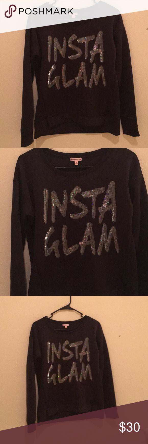 """Insta Glam"" Juicy Couture Sweater EUC Juicy Couture Sweaters Crew & Scoop Necks"