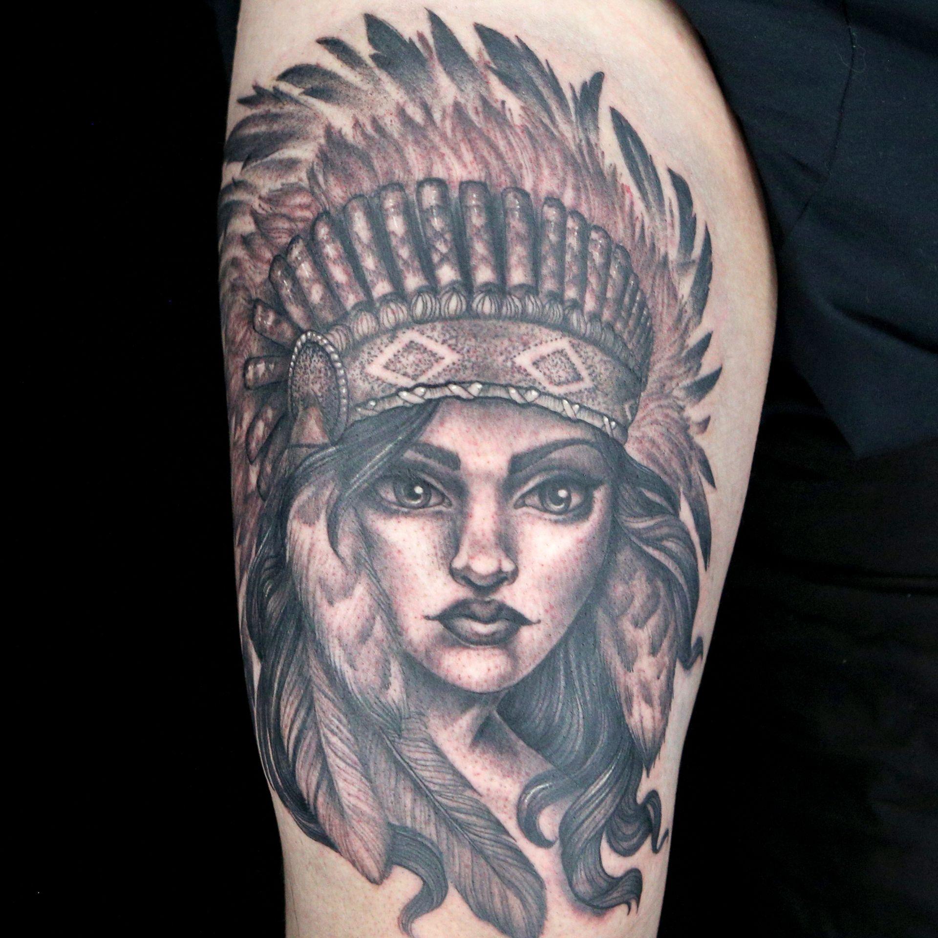 93c9bdb36 Native American Tattoo by Artistic Skin Designs (April Nicole & Dane Smith)