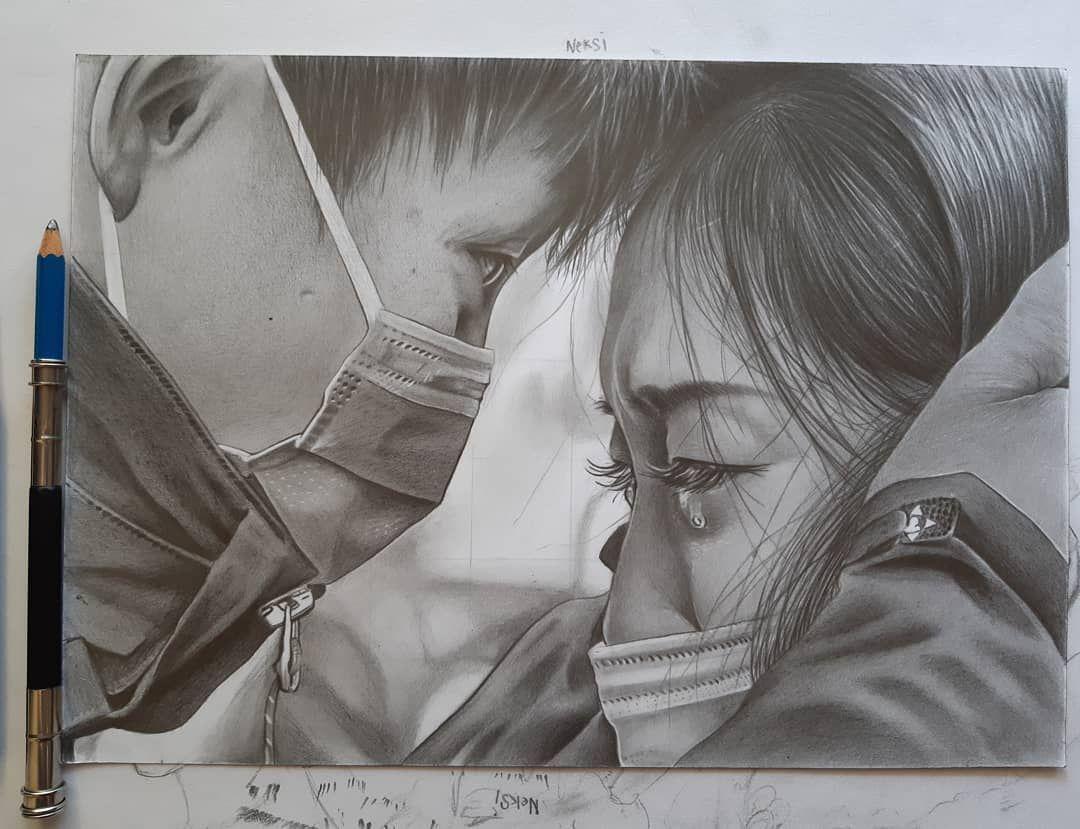Well done 🙏😷 #drawing #artdrawing #art #artwork #artsenimanindonesia #pencildrawing #realism #realisticdrawing #seni #artist #arte #lukisanwajah #lukisanpensil #fabercastell #staedtler #graphitedrawing #blackwork #kupang #indonesia #senirupa #menggambar #menggambarts #karyaseni #drawingrealistic #seni #covid_19 #corona #coronavirüsü #drawingpencil #stayhome #stayhealthy