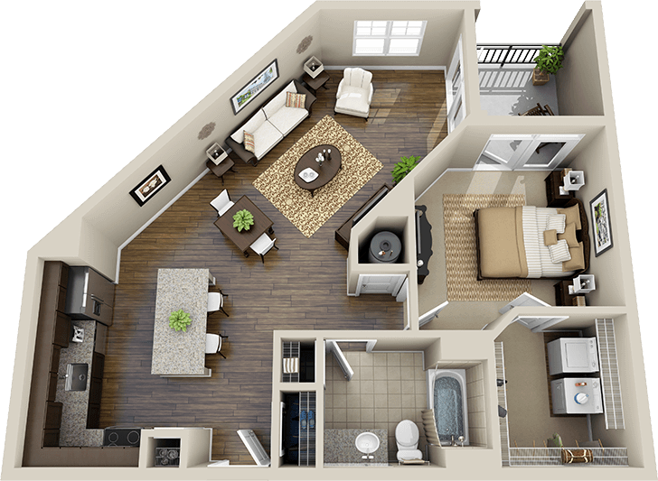 3d floor plan apartment Google Search 3D Floor Plans